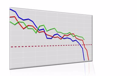graph : Stock market graphs going down, economy downturn