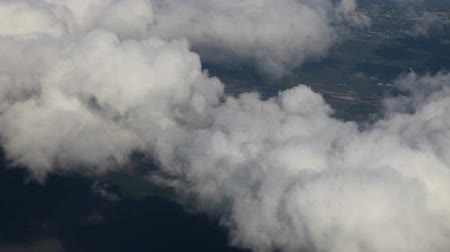 át : Aerial view from an airplane over Florida, US, timelapse 2X