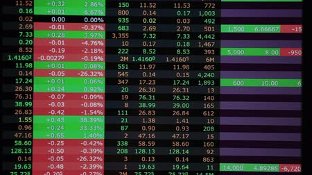 pieniądze : Real stock market trading screen accelerated