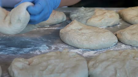 pastry : Baker preparing dough Stock Footage