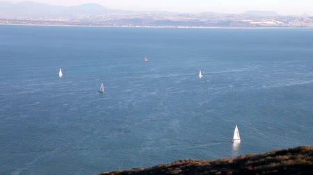 San Diego Bay with sailboats