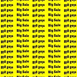 úhlopříčka : black word big sale on a yellow background