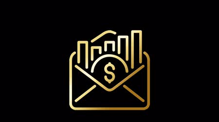 ステッカー : Luxury and Golden Email Marketing Icons