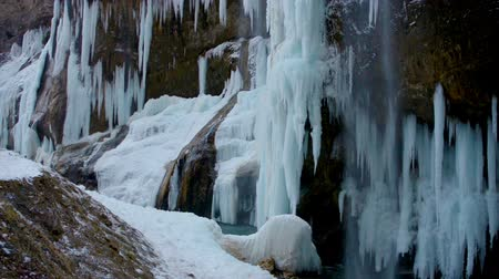 icefall : icefall with river like cinemagraph effect Stock Footage