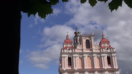 древний : ancient Vilnius saint Casimir church with crown on tower
