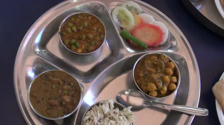 thali : food in India train station on table