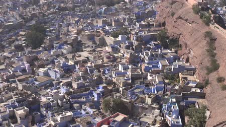 saray : view to Rajasthan blue city Jodhpur from Mehrangarh Fort,India
