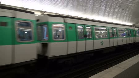 french metro : FRANCE, PARIS - MAY 25:  train in Paris metro station. Oldest metro station in Europe. MAY 25, 2014 in Paris, France