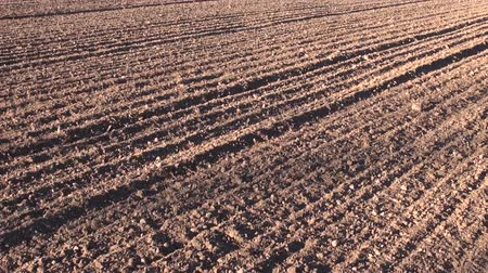 plowed land : plowed cultivated agriculture farmland field soil