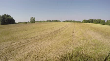autumns : PANEVEZYS DISTRICT, LITHUANIA – September 2015: Tractor plowing field on sunny autumns day, time lapse 4K Stock Footage