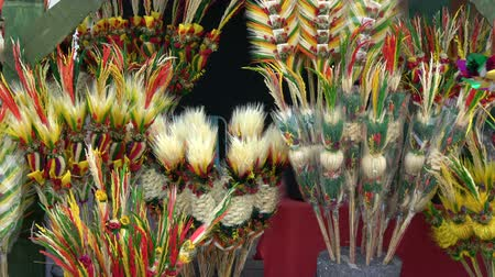 litvanya : Traditional lithuanian Easter decorative palm bouquets on spring market