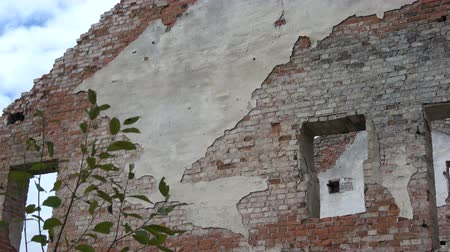 век : historical manor building watermill ruins Стоковые видеозаписи