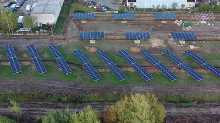 kolektor : Place of construction  modern solar power station in Lithuania,  aerial view