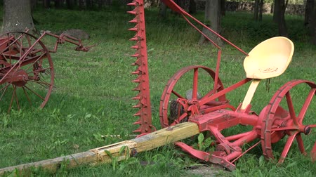Historical agriculture horse power  tools in mansion park