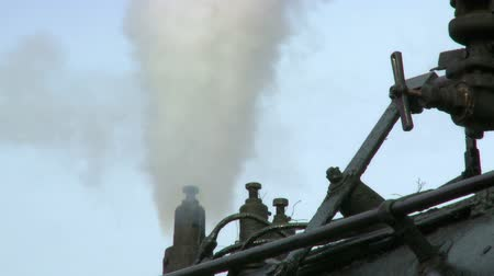 Close up detail of small steam pipes. Audio included