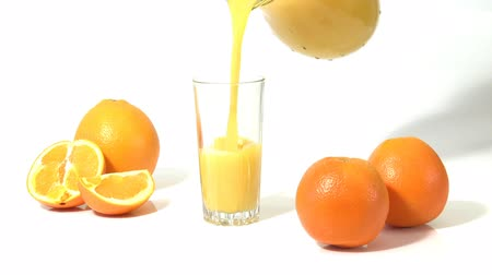 saft : Orangensaft in ein Glas Videos
