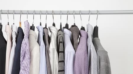 nesnelerin grubu : Time lapse of clothes on rack, closeup