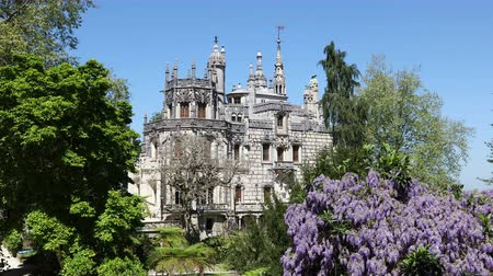 regaleira : SINTRA - APRIL 07: Quinta da Regaleira palace is an estate located near the historic center of Sintra. April 07, 2017 in Sintra, Portugal