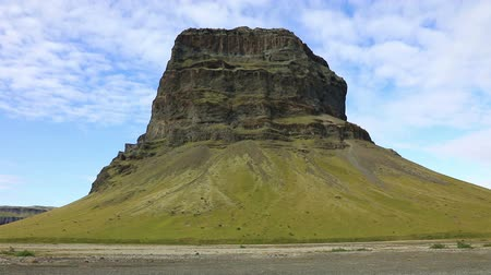 prominent : Mount Lomagnupur, a precipitous promontory on the south coast of Iceland.