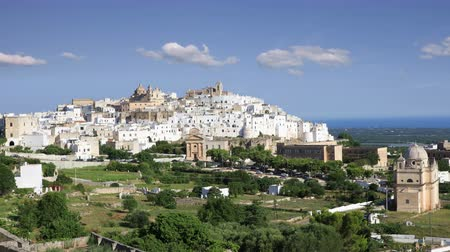 View of the fantastic white city of Ostuni in Puglia, Italy