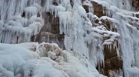 icefall : Frozen waterfall with ice