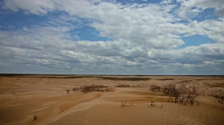 сухой : Clouds float over the desert. Timelapse