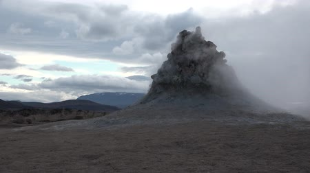 fumaroles : Iceland. Fumaroles and mud geysers of the geothermal field Hverfell