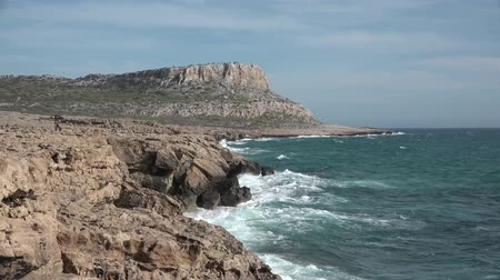 kypr : Sea caves. Near Cape Greco.