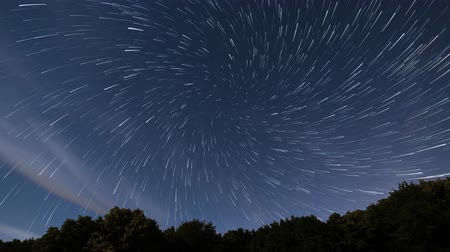 rotaları : Spiral star trails time lapse