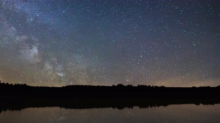 yolları : Beautiful night sky Milky Way reflection on water