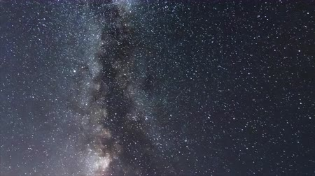 yolları : Milky Way Galaxy. Milky Way Time lapse.