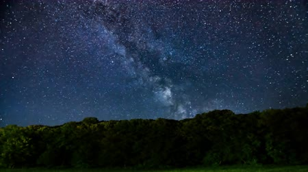 yolları : Meteor Shower, Milky Way galaxy Time lapse. Stok Video