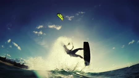 extremo : Extreme Sports Kite Surfing Concept in Slow Motion HD.