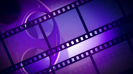 kino : Animated background with a rotating reel of film