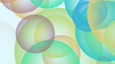 Loopable bubble abstract background template different color. 4K top view 3D illustration