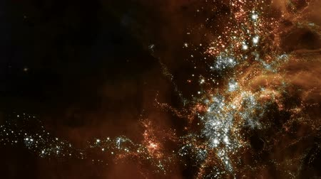 Space 2055: Traveling through star fields in deep space (Loop). Stok Video