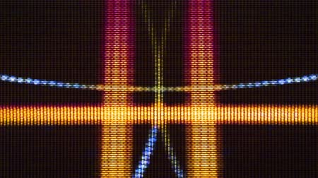 transmit : Video Flux 007: Television screen pixels fluctuate with color and video motion (Loop). Stock Footage