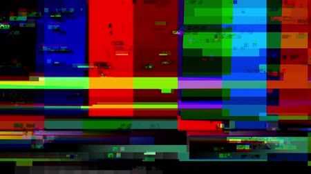 patroon : Glitch 1006: TV kleur bars met een digitale storing (Loop).
