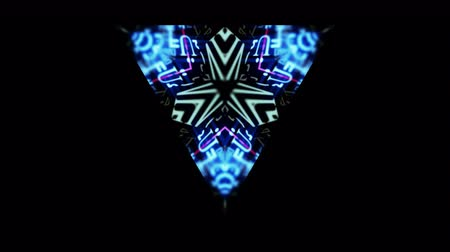 psychedelic : Video Background 2343: A triangular kaleidoscope of abstract forms (Loop).