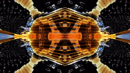 techno : Video Background 2344: A futuristic kaleidoscope of data and video flux (Loop).