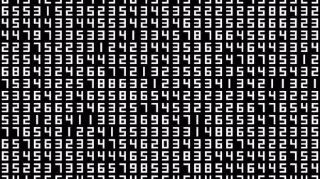 sete : Numbers 003: A data screen of numbers flicker and shift (Loop).