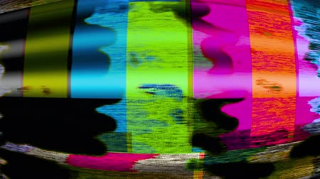 TV Noise 1128: TV color bars test card malfunction (Loop).