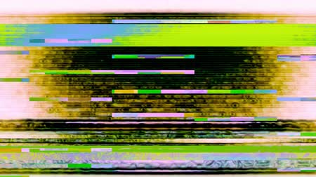Glitch 1038: Digital noise video damage (Loop). Stok Video