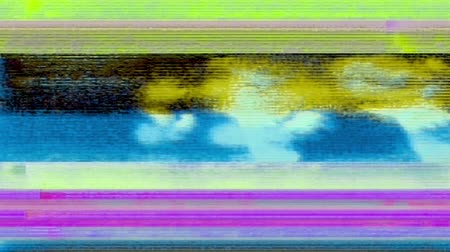 Glitch 1040: Digital noise video damage (Loop). Stok Video