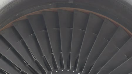 lutador : turbine on the wing of a plane at the airport Stock Footage