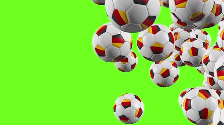 núpcias : Germany balls fly on green background Stock Footage