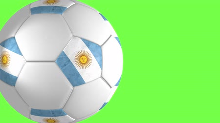 núpcias : Argentina ball transition on green Stock Footage