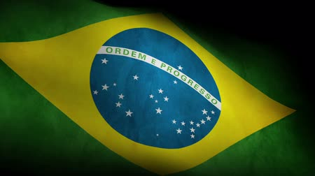 brasileiro : Low Angle view of National flag of Brazil background