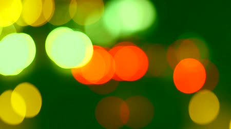 xenon lights : Defocused night traffic lights as background
