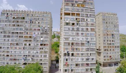 sovyet : Aerial view of old soviet buildings